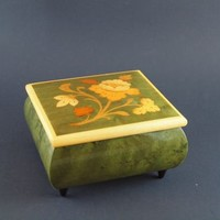 "Vintage Inlaid Music Box Made in Italy ""Come Back to Sorrento"""