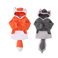 Cute Fox Baby Boys Girls Hoodies Jackets Hooded Coat Outerwear Spring Kids Toddler Windbreaker Clothes 3-24M