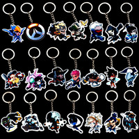 Game Overwatch Keychain Tracer Reaper OW key chains Blizzard Reaper Winstion Key Ring Widowmaker Holder chaveiro llaveros