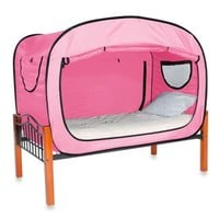 Privacy Pop Bed Tent in Pink