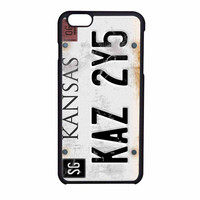 License Plate Supernatural iPhone 6 Case