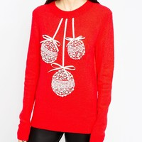 ASOS Holidays Sweater with Baubles
