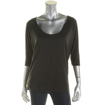 Alternative Apparel Womens Solid Long Sleeve Casual Top