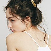 Free People Womens Large Feather Barrette