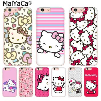 MaiYaCa Hot Fashionable Hello Kitty on sell phone Accessories cover for iPhone 8 7 6 6S Plus X 5 5S SE XR XS XS MAX cover