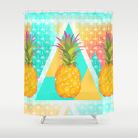 Pineapples Shower Curtain by Ornaart   Society6
