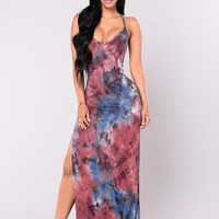 Dye For Me Dress - Navy