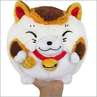 Mini Squishable Fortune Cat: An Adorable Fuzzy Plush to Snurfle and Squeeze!