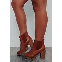 Fall Is Here Booties: Cognac