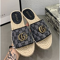 GUCCI Early autumn series with slippers and fisherman's shoes