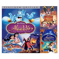 Walt Disney's Aladdin Trilogy DVD Set 3 Movie Collection