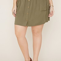 Plus Size Snap-Buttoned Skirt | Forever 21 PLUS - 2000186649