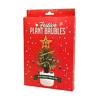 Festive Plant Baubles Christmas Holiday Decor | Decorate Your Houseplant Like a Christmas Tree