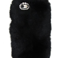 SO FURRY BLACK IPHONE CASE