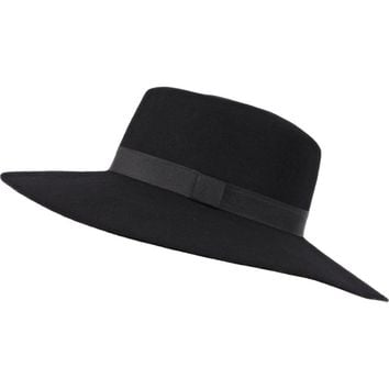 Black ribbon trim shaker hat - hats - accessories - women