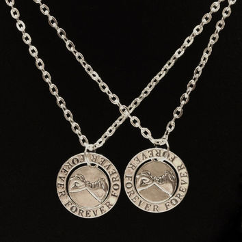 2 forever promise necklaces from summerwishes on etsy