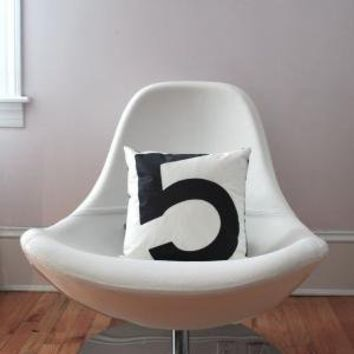 Recycled Sail Throw Pillow Black number 5 by reiter8 on Etsy