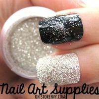 nailartsupplies | Diamond Bright - Silver White Raw Extra Fine Nail Glitter Mix 3.5 Grams  | Online Store Powered by Storenvy