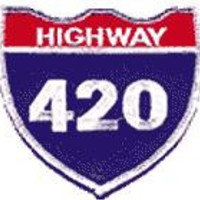 Highway 420 Iron-On Patch Sign Logo