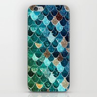 REALLY MERMAID TIFFANY iPhone & iPod Skin by Monika Strigel