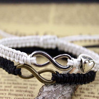 Couple bracelet Infinity Bracelet,Chinese traditional culture, the manual weaving lace bracelets, Christmas gifts