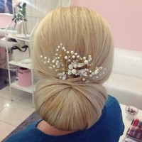 Bridal Crystals Pearls Hair Vine  Headpiece silver Gold Wedding Proms Comb Pin