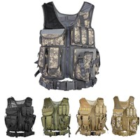 Outlife Tactical Vest Paintball Military Swat Assault Shooting Molle Hunting Vest Combat Soft Vest With Holster