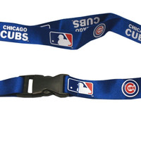 Chicago Cubs Lanyard - Breakaway with Key Ring - Blue