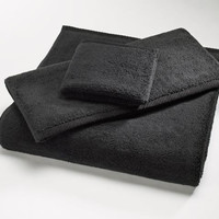 Black MicroCotton Luxury Towels