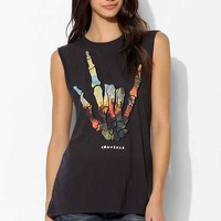 Converse Colorful Skull Muscle Tee- Washed Black
