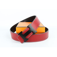 Hermes belt men's and women's casual casual style H letter fashion belt574