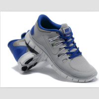 NIKE running breathable casual shock Damping running shoes Gray and blue
