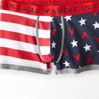 AEO Men's Eagles Flag Low Rise Trunk (Red)
