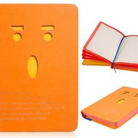 WG-64034 Hollowed-out Smile Face Note Book (Orange)