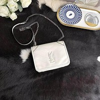 YSL Women Leather Shoulder Bags Satchel Tote Bag Handbag Shopping Leather Tote Crossbody-110