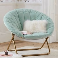 Light Pool Velvet Channel Stitch Hang-A-Round Chair