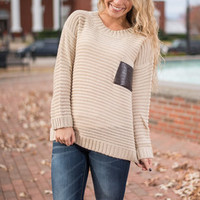 Walk With You Sweater, Beige
