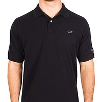 Classic Pique Polo in Black, Featuring Longshanks the Fox by Vineyard Vines