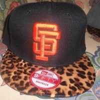 SF Giants Leopard Print Strapback from CherryKreations21