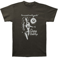 Queens Of The Stone Age Men's  Ready To Swallow Slim Fit T-shirt Charcoal