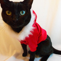CoolCats Santa Hoodie for Cats