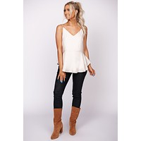Always Free V Neck Top (Cream)