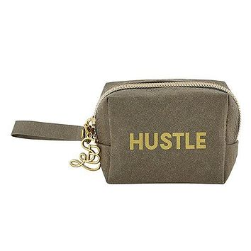 Hustle Wristlet Mini Pouch in Olive – Earbud/Phone Charger/Jewelry Cool Small/Mini Zip Coin/Change Purse/Bag/Pouch/Wallet