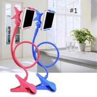 DCKL9 Creative Gift Artifact Bedside Can Bend Lazy Bed Mobile Phone Support Frame Clamp Universal Mobile Phone Rack on Bed Mobile Phone Clip [8270579137]