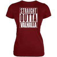Straight Outta Valhalla Viking Valkyrie Juniors Soft T Shirt