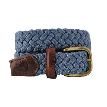 The Nautilus Woven Rayon Belt in Jeans Blue by Bucks Club