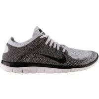 Nike Men's Free 4.0 Flyknit Running Shoe - White/Black | DICK'S Sporting Goods