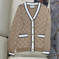 GUCCI GG cardigan with crystals