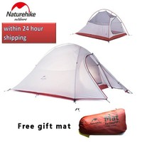 Naturehike tent Cloud Up Series  2-3 Person Ultralight Tent 20D Silicone Double-layer Camping Tent with Mat Camp Equipment