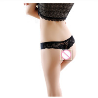 2016 Sexy Invisible Underwear Thong Transparent Panties Lace Thongs Gas Seamless Crotch Thong Ice Women A Female T Pants Ladies